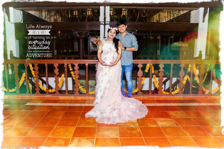 Maternity shoot in Alankrita Resort indoors