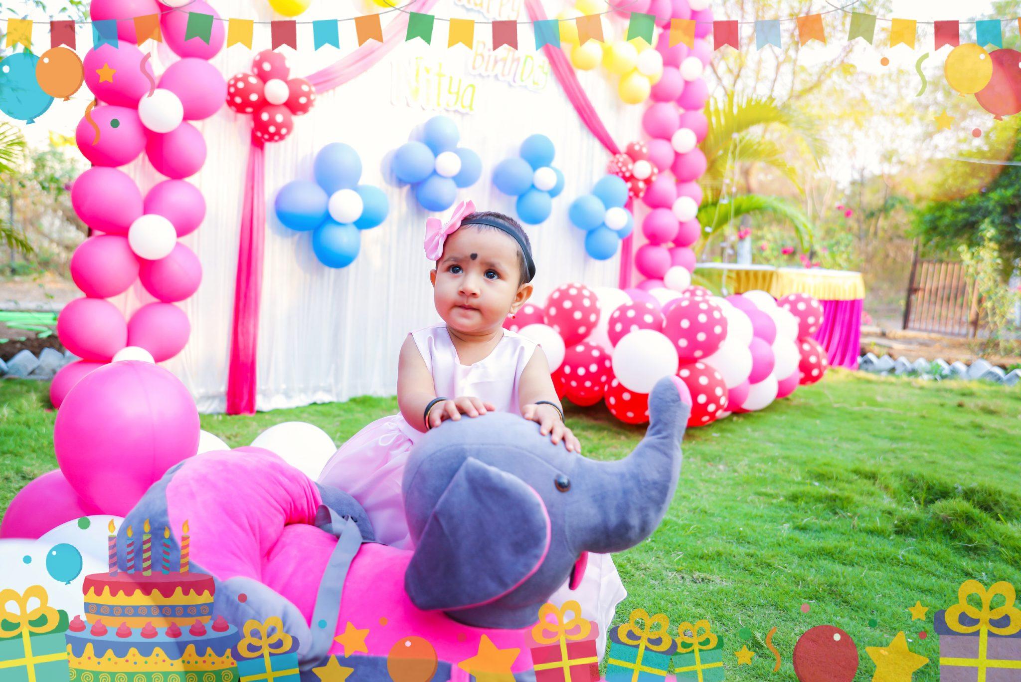 birthday baby girl photoshoot