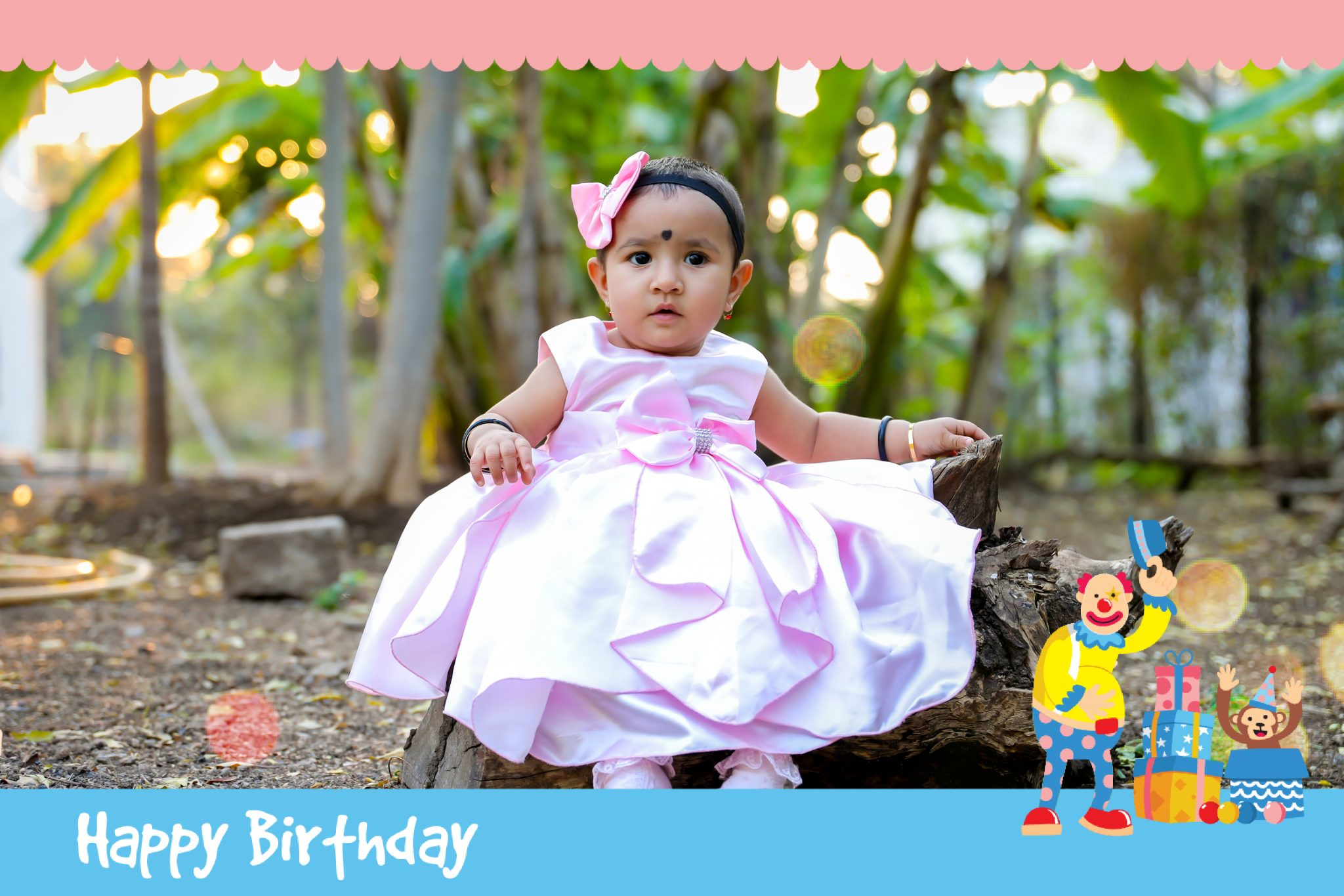 baby girl birthday photoshoot